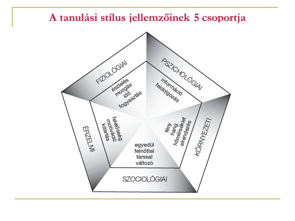 A tanulási stílus jellemzőinek 5 csoportja