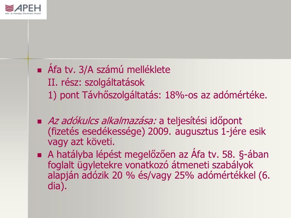 Áfa tv. 3/A számú melléklete II.