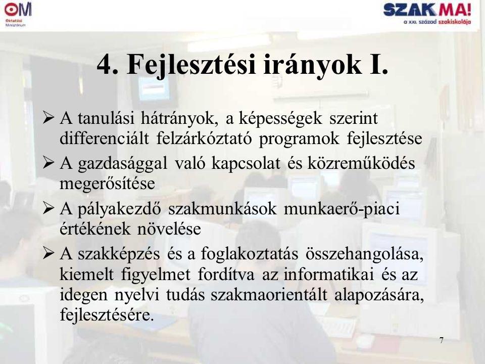 8 4.Fejlesztési irányok II.