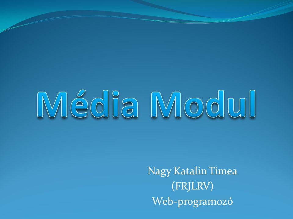 Nagy Katalin Tímea (FRJLRV) Web-programozó