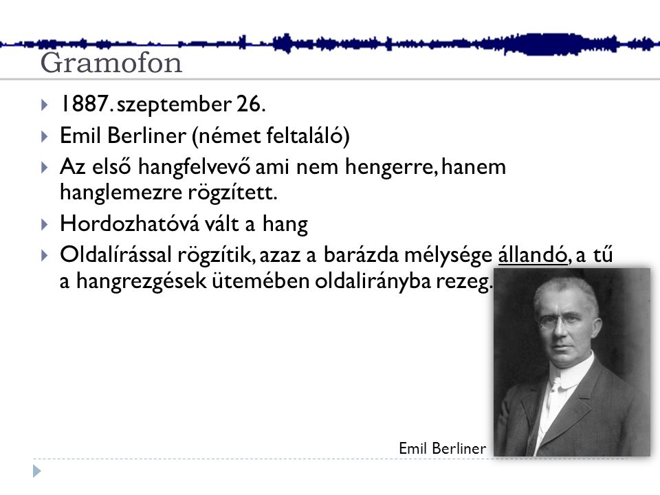 Gramofon  1887. szeptember 26.