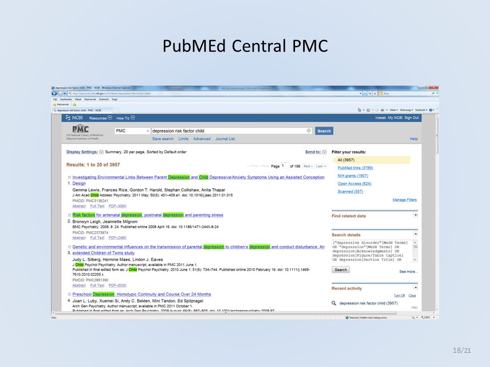 PubMEd Central PMC 18 /21