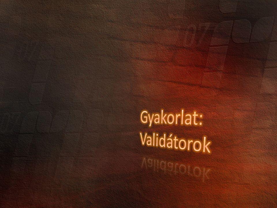 Állapotkezelés Felhasználó kezelés Kliensoldali és szerveroldali validáció Globalization