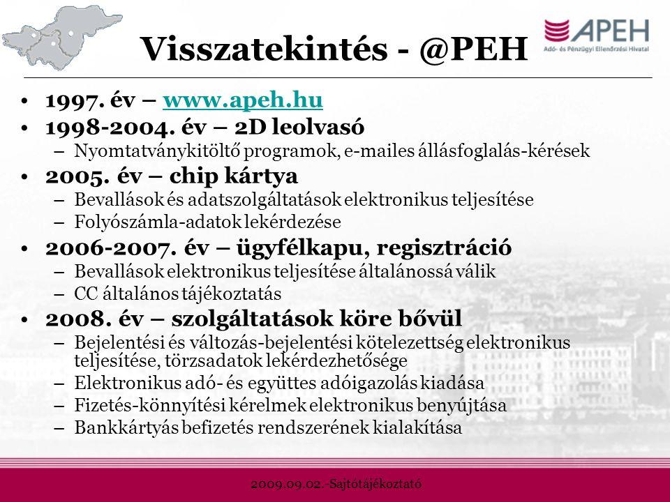 2009.09.02.-Sajtótájékoztató Visszatekintés - @PEH 1997.