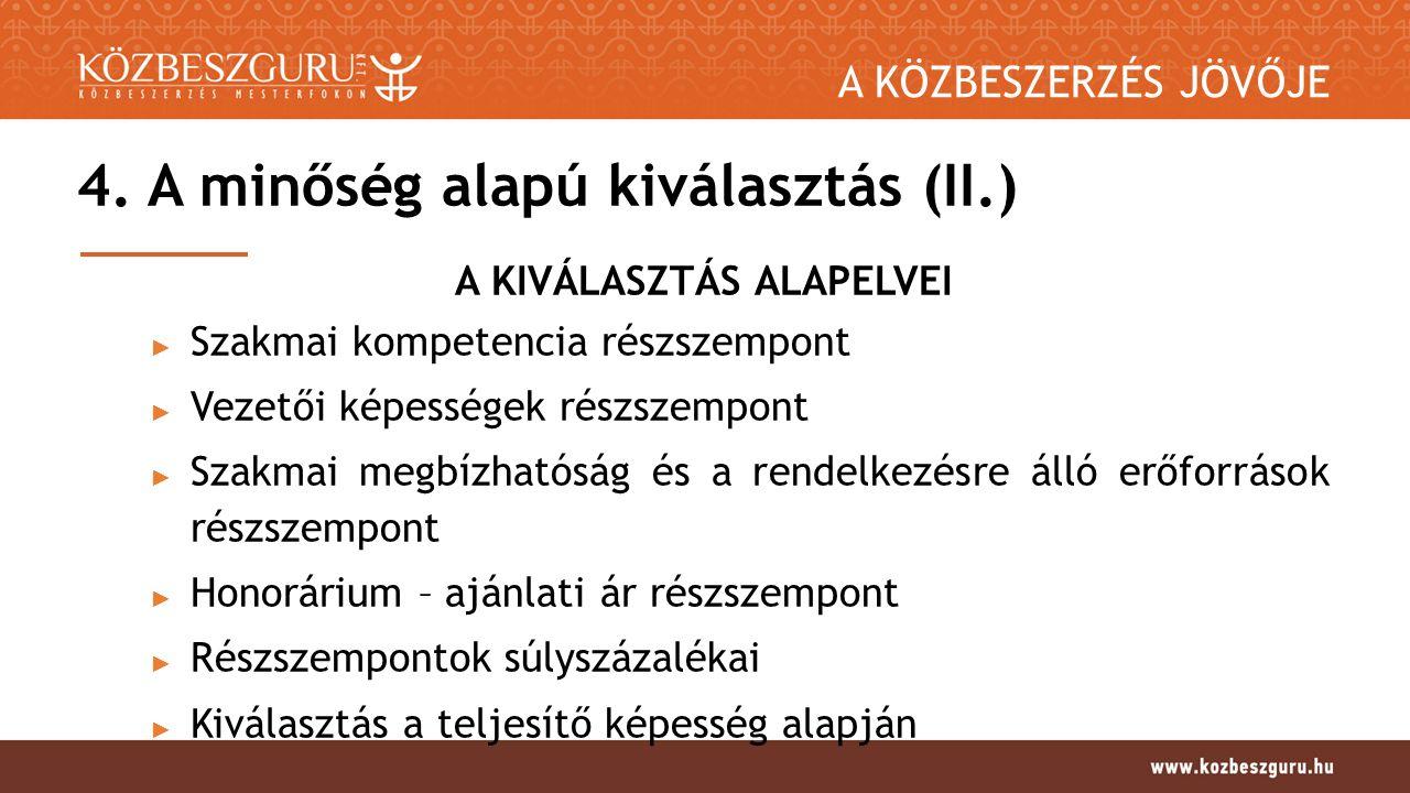 A KÖZBESZERZÉS JÖVŐJE 4.