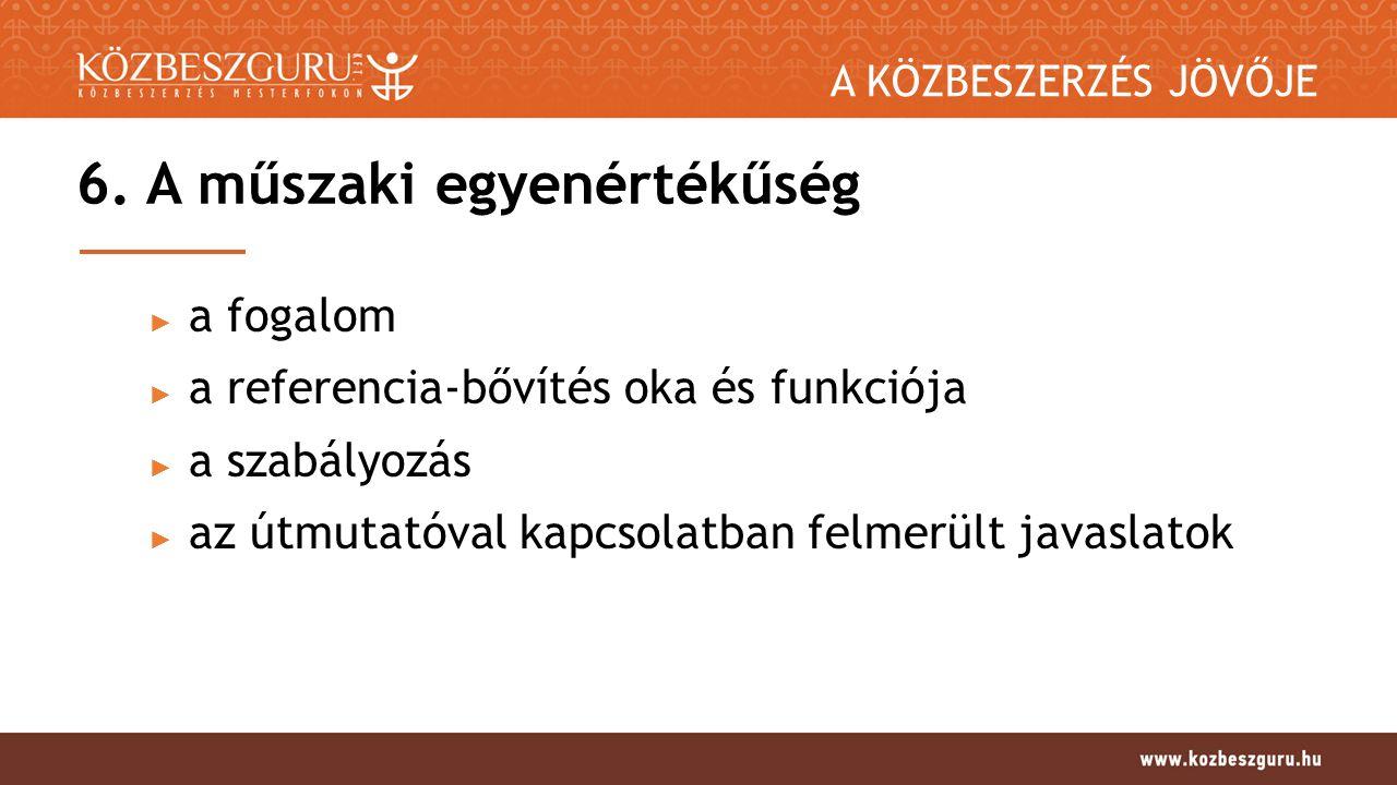 A KÖZBESZERZÉS JÖVŐJE 6.