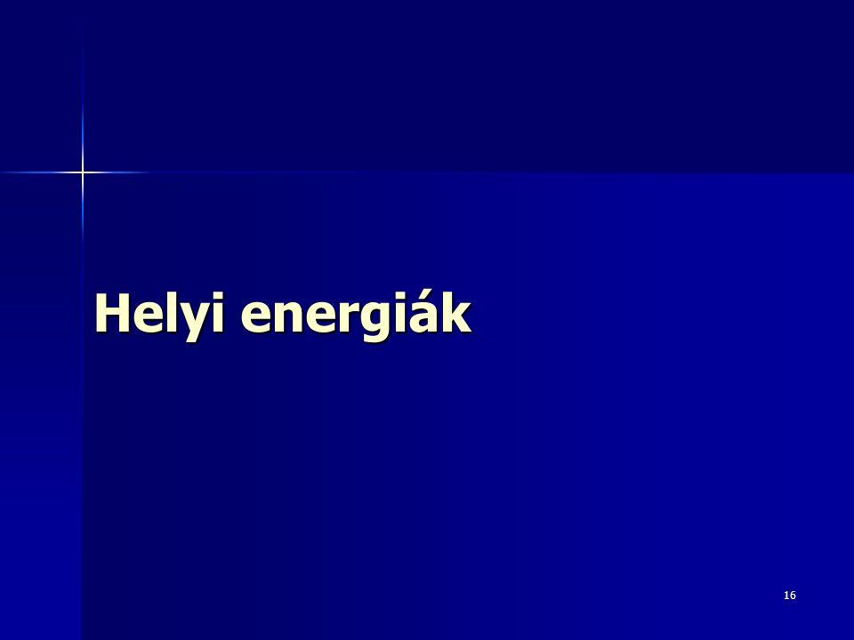 16 Helyi energiák