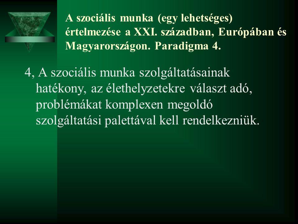 A szociális munka (egy lehetséges) értelmezése a XXI.