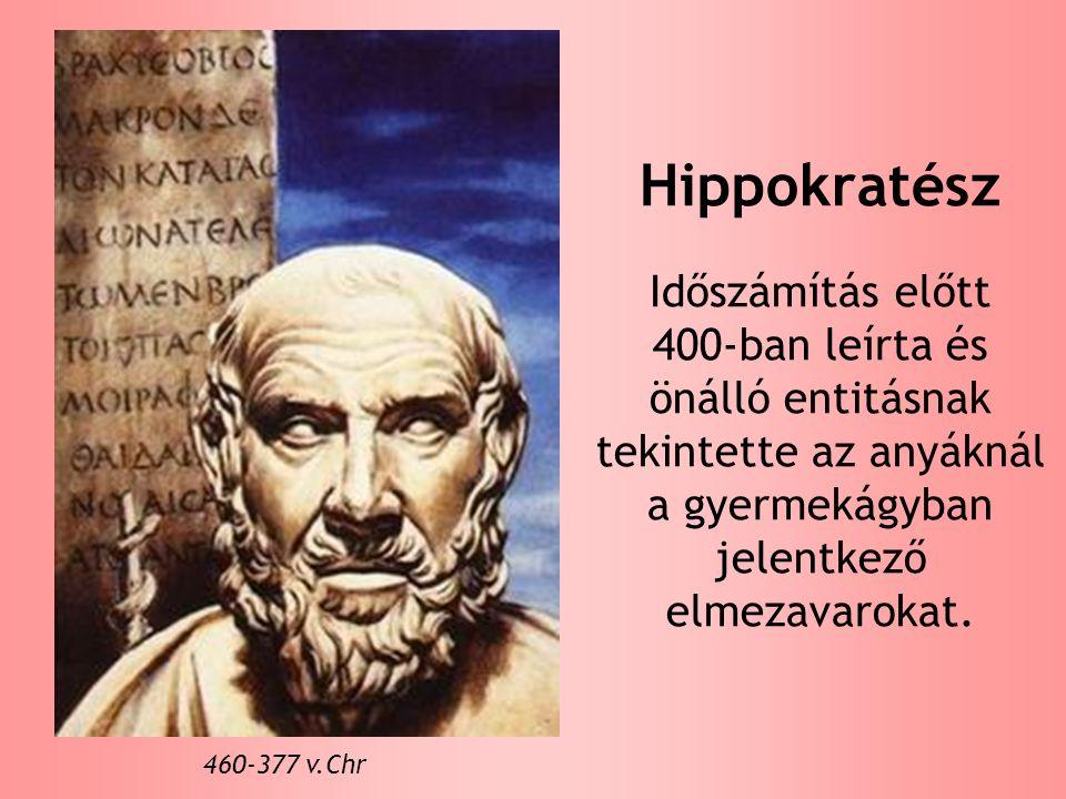 Hippokratész Időszámítás előtt 400-ban leírta és önálló entitásnak tekintette az anyáknál a gyermekágyban jelentkező elmezavarokat.