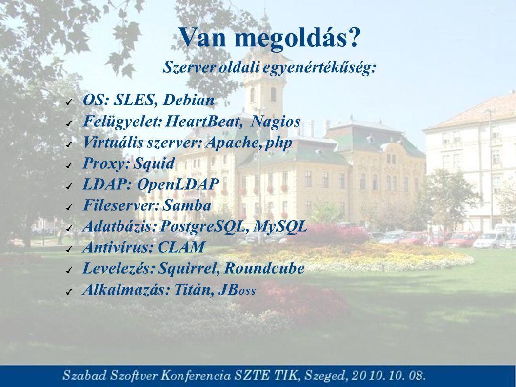 ✔ Böngészőben futó vagy platformfüggetlen alkalmazások ✔ ASP megoldások ✔ Szeged Önkormányzata felajánlotta a nyílt forráskódú rendszereken alapuló fejlesztését a Kormányzat számára önkormányzati elektronikus közszolgáltatás támogatására Van megoldás.