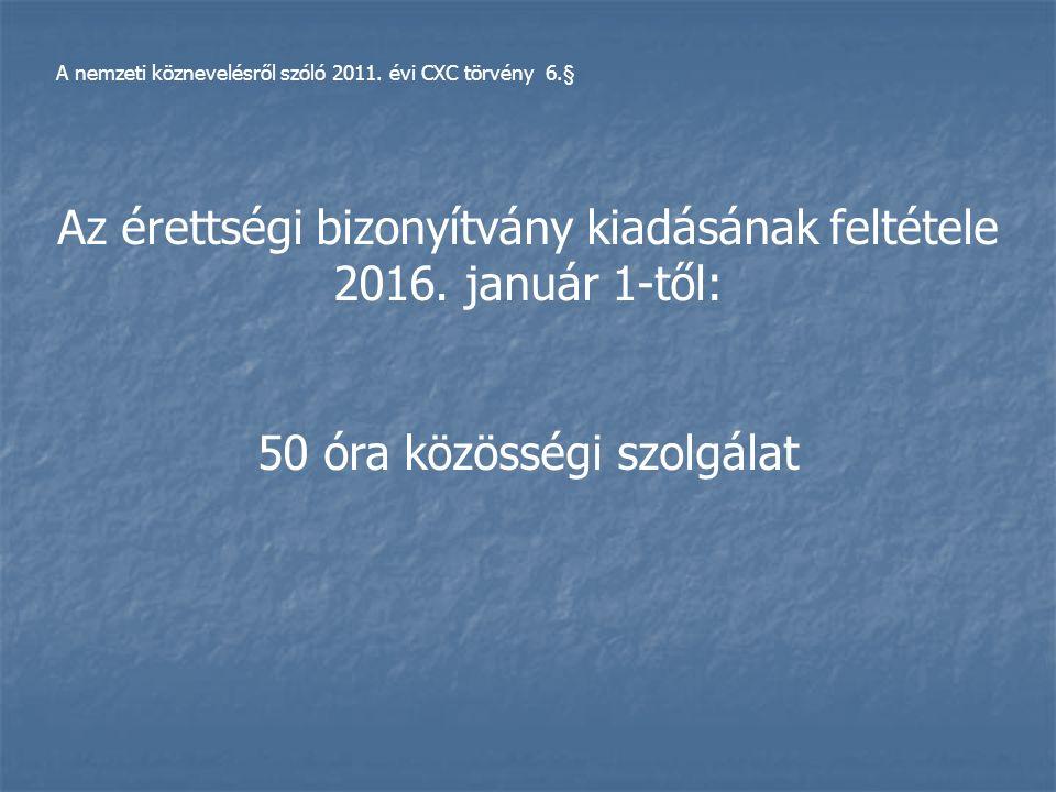 A nemzeti köznevelésről szóló 2011.