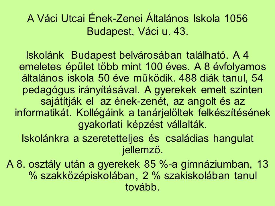 A Váci Utcai Ének-Zenei Általános Iskola 1056 Budapest, Váci u.