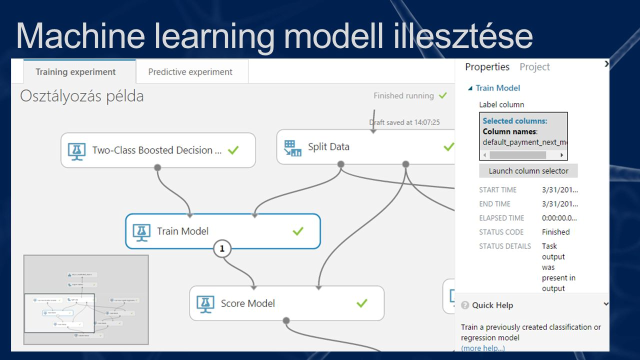 Machine learning modell illesztése