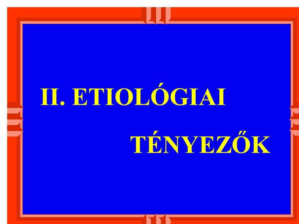 II. ETIOLÓGIAI TÉNYEZŐK