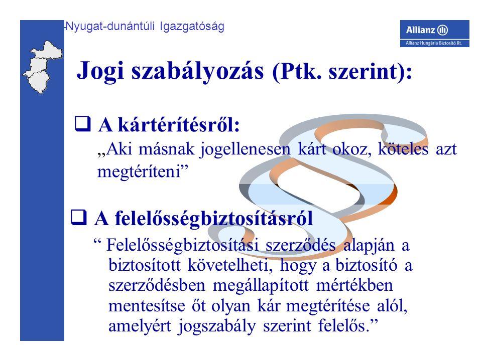 Nyugat-dunántúli Igazgatóság Jogi szabályozás (Ptk.