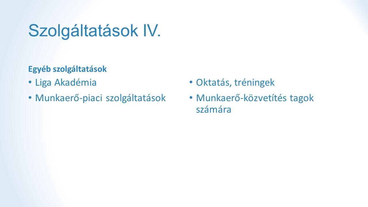 Szolgáltatások IV.