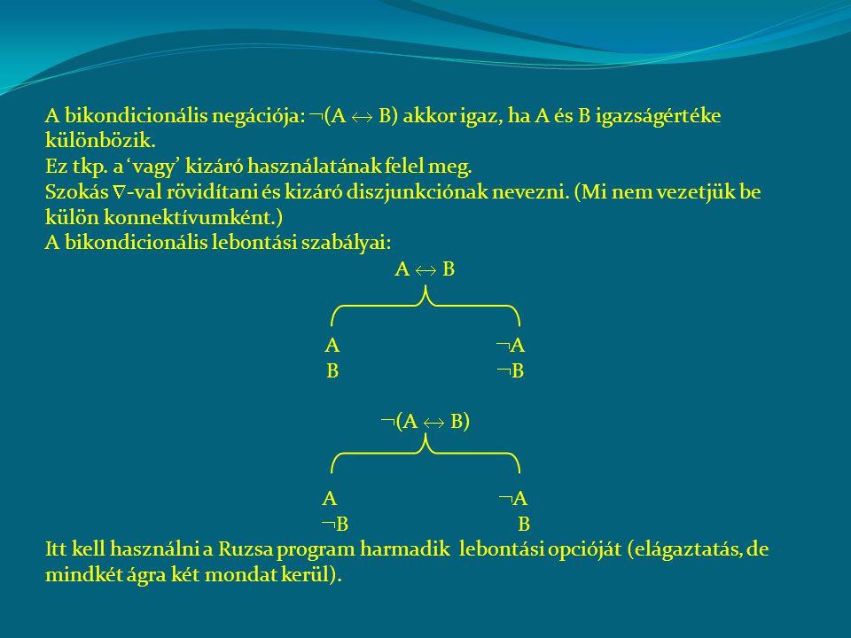 A bikondicionális nyilvánvalóan kommutatív.Asszociatív-e.
