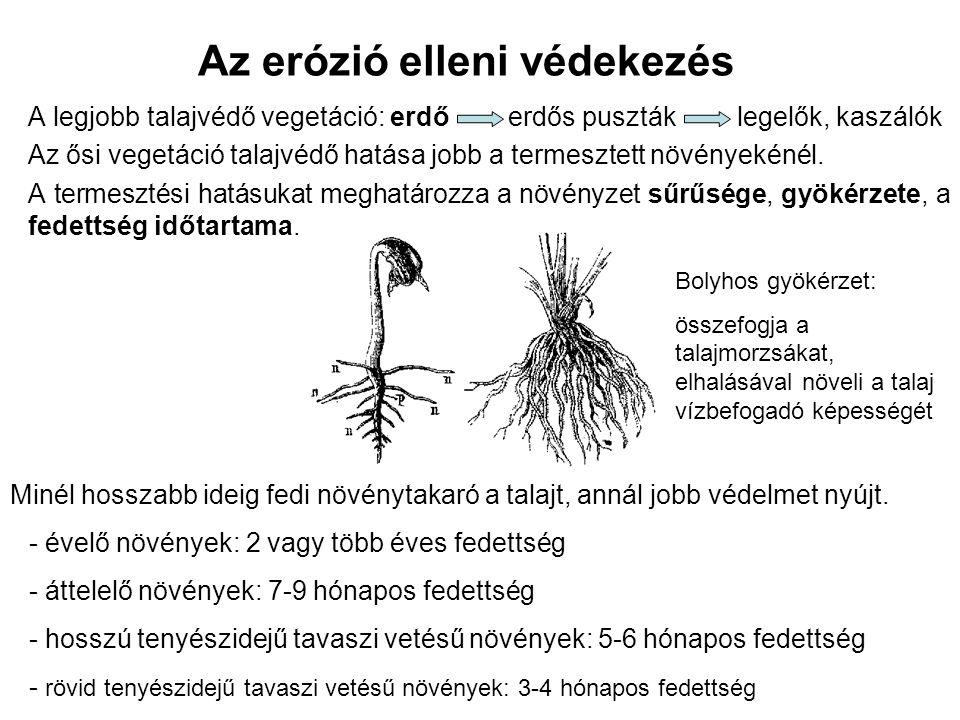 Az erózió elleni védekezés agrotechnikai talajvédelem műszaki talajvédelem erdészeti talajvédelem I.