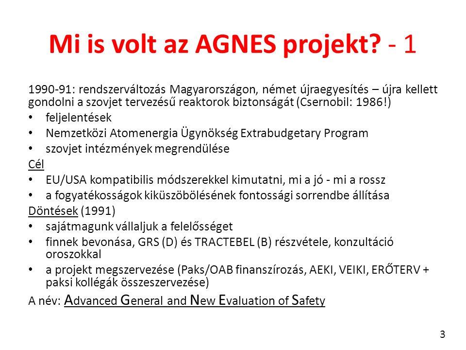 Mi is volt az AGNES projekt? - 1 1990-91: rendszerváltozás Magyarországon, német újraegyesítés – újra kellett gondolni a szovjet tervezésű reaktorok b