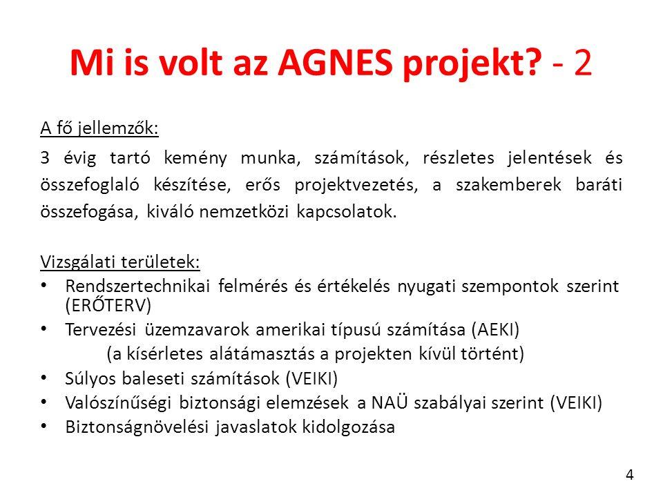 Mi is volt az AGNES projekt? - 2 A fő jellemzők: 3 évig tartó kemény munka, számítások, részletes jelentések és összefoglaló készítése, erős projektve