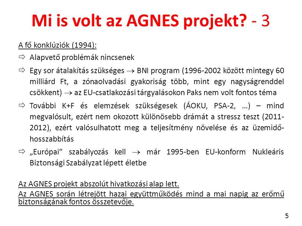 Mi is volt az AGNES projekt? - 3 A fő konklúziók (1994):  Alapvető problémák nincsenek  Egy sor átalakítás szükséges  BNI program (1996-2002 között