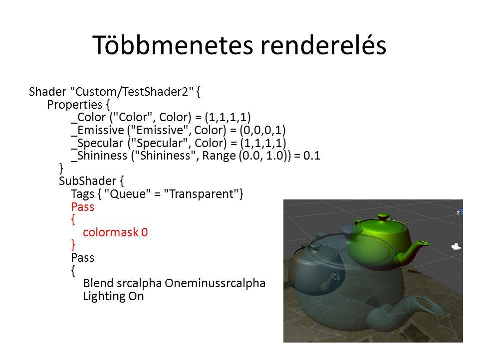 Többmenetes renderelés Shader