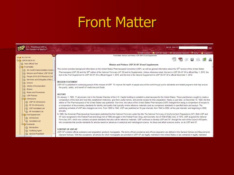 Front Matter
