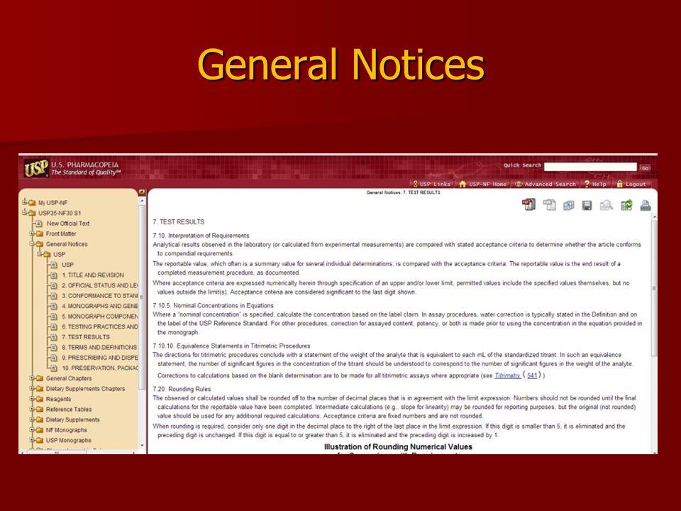 General Notices
