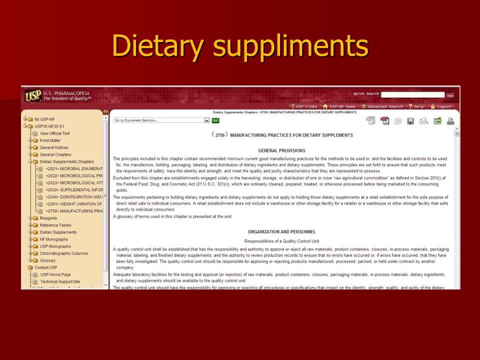 Dietary suppliments