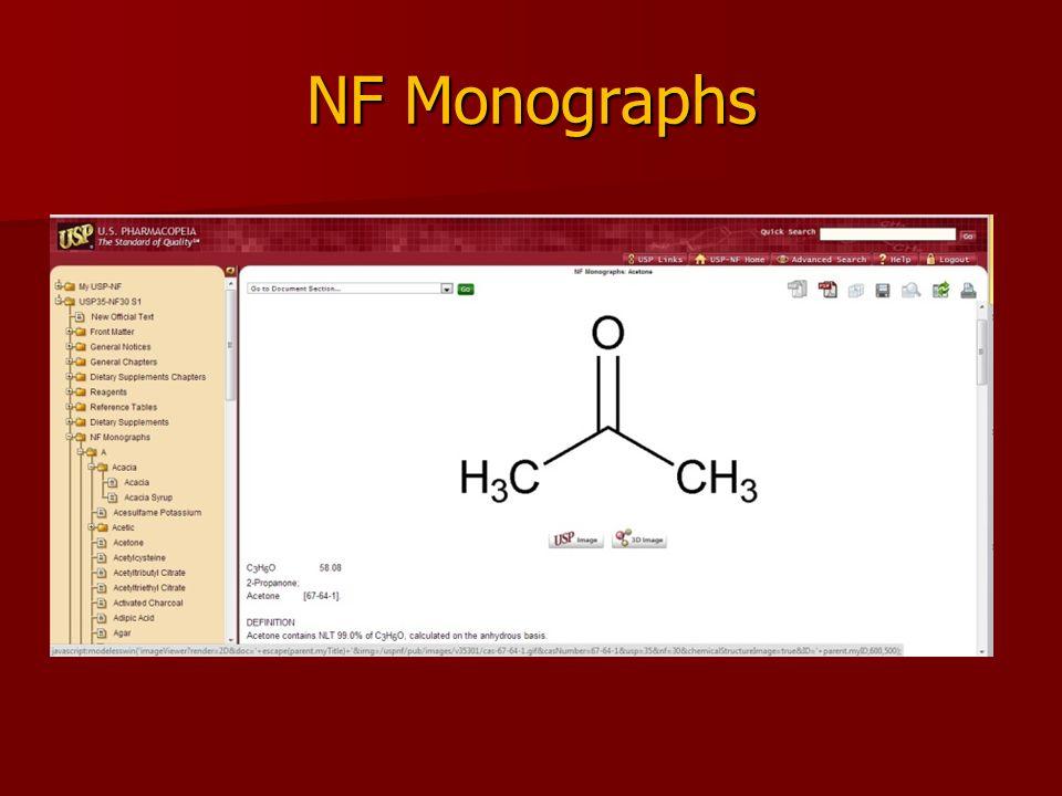 NF Monographs