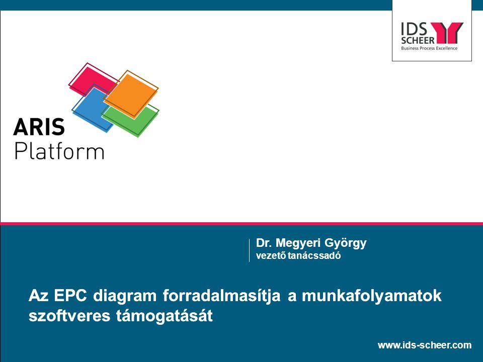 www.ids-scheer.com Az EPC diagram forradalmasítja a munkafolyamatok szoftveres támogatását Dr. Megyeri György vezető tanácssadó
