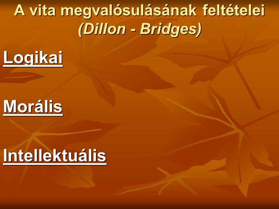 A vita megvalósulásának feltételei (Dillon - Bridges) Logikai MorálisIntellektuális