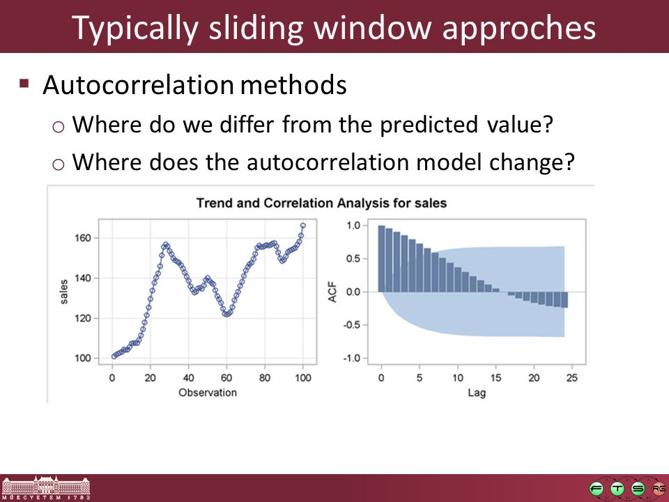 Typically sliding window approches  Autocorrelation methods o Where do we differ from the predicted value.