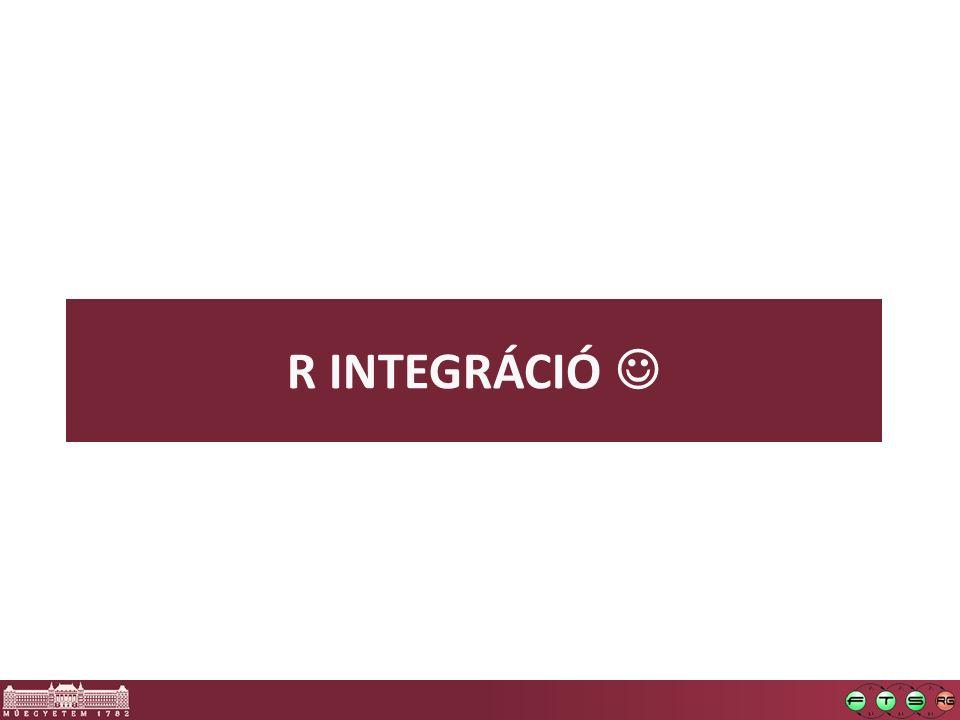 R INTEGRÁCIÓ