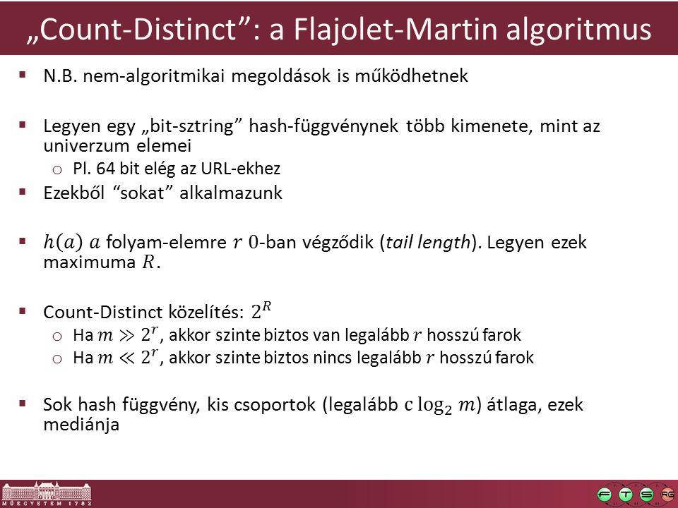 """""""Count-Distinct"""": a Flajolet-Martin algoritmus"""