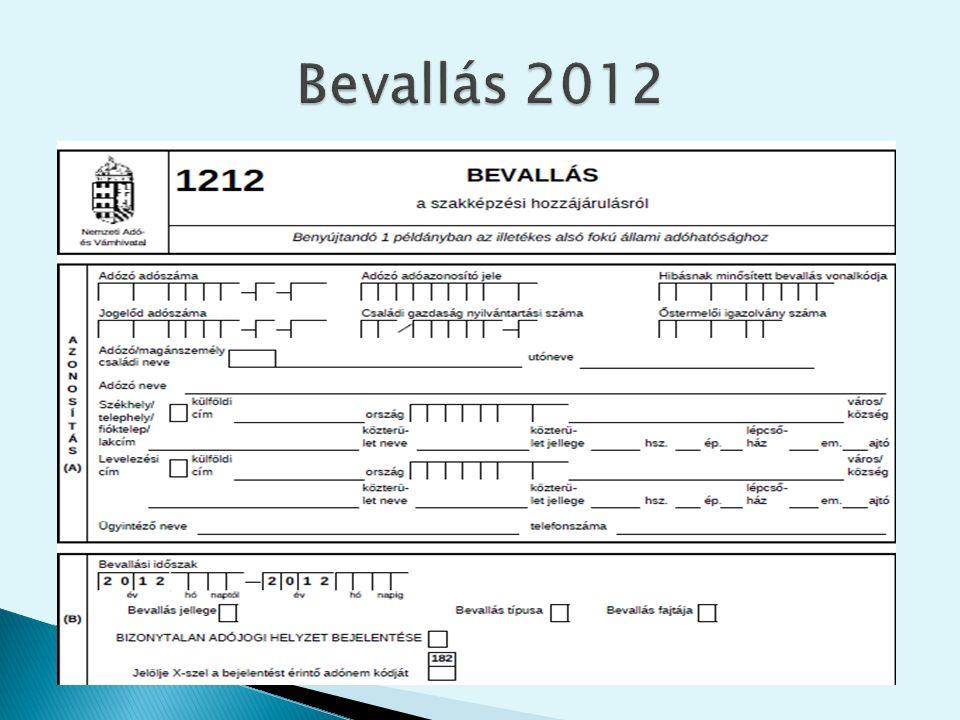A csökkentő tétel számítása a 240/2012.Kormányrendelet 1.
