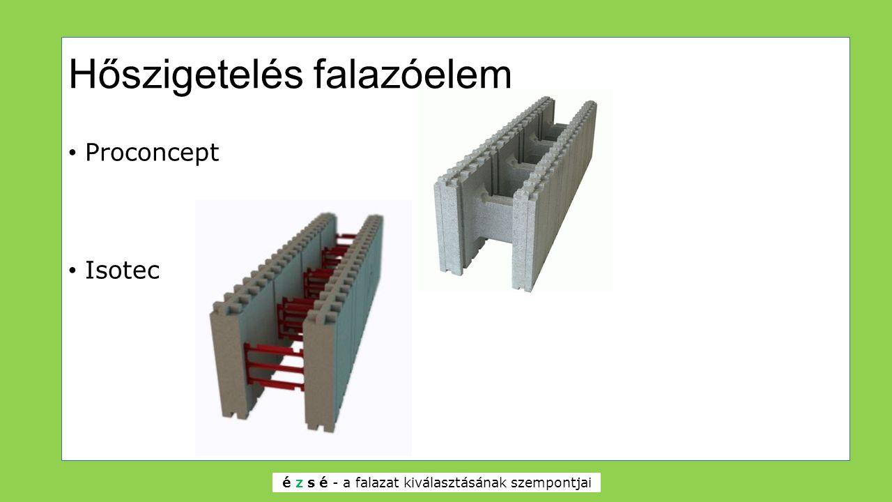 Hőszigetelés falazóelem Proconcept Isotec é z s é - a falazat kiválasztásának szempontjai