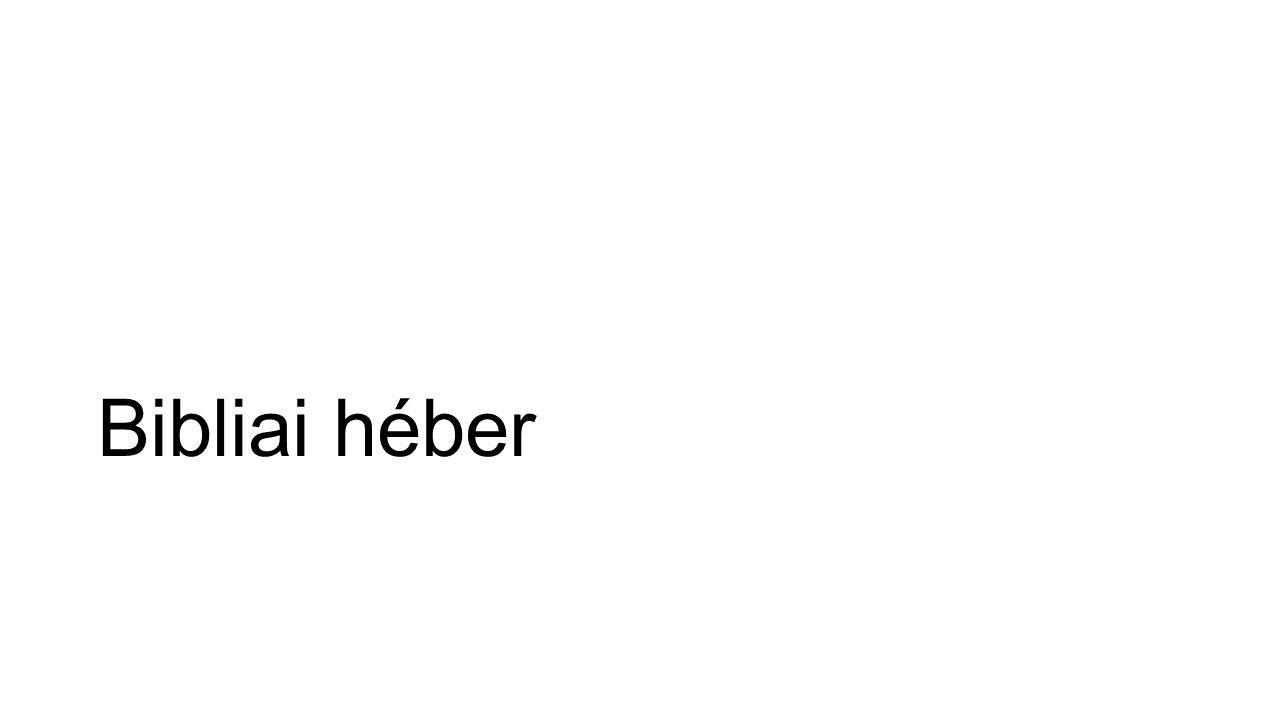 Bibliai héber