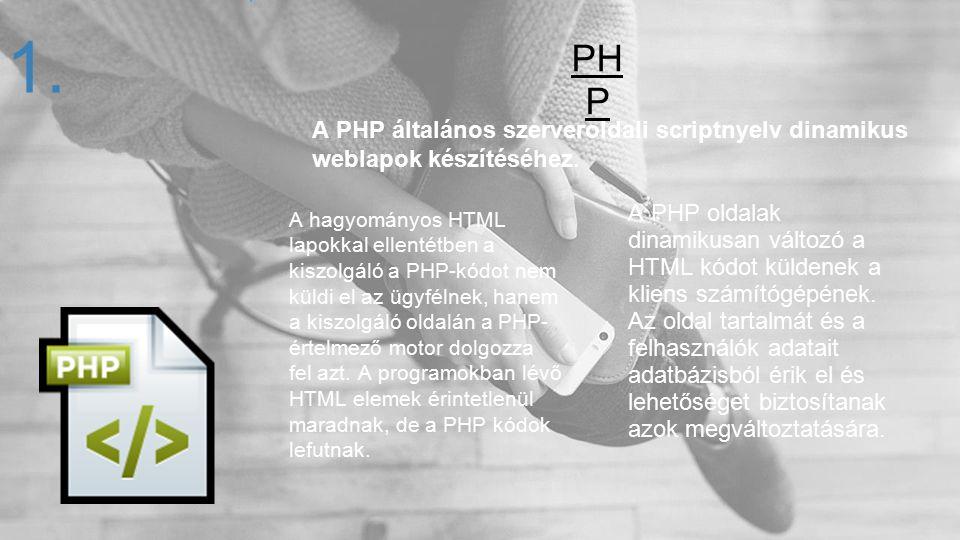 A hagyományos HTML lapokkal ellentétben a kiszolgáló a PHP-kódot nem küldi el az ügyfélnek, hanem a kiszolgáló oldalán a PHP- értelmező motor dolgozza