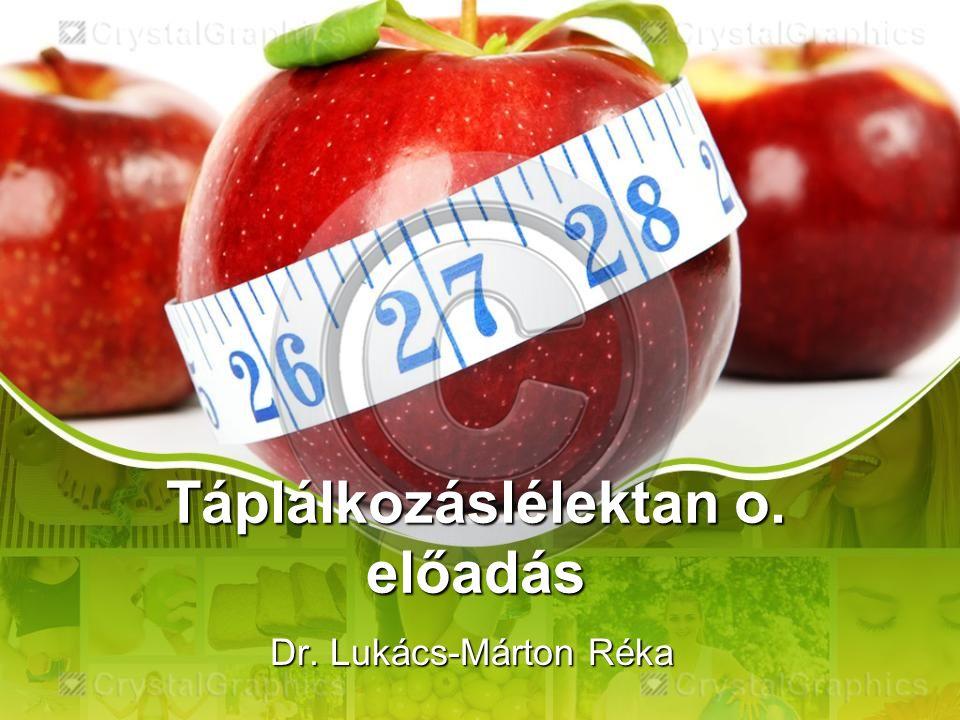 Táplálkozáslélektan o. előadás Dr. Lukács-Márton Réka
