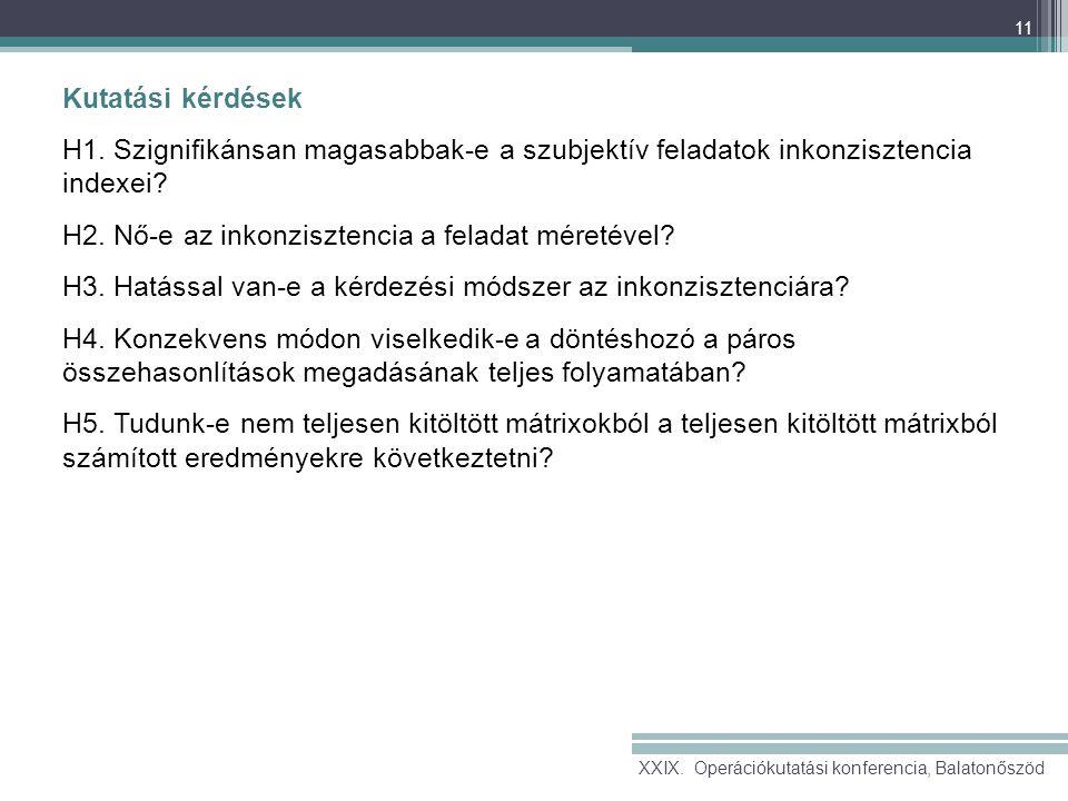 11 Kutatási kérdések H1.