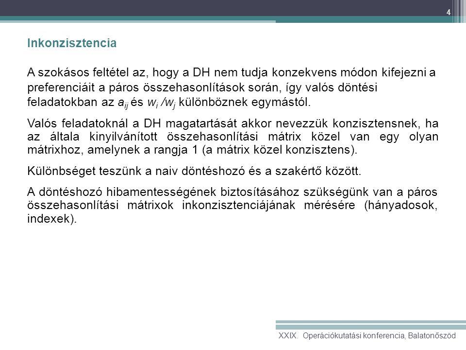 15 Referenciák Bozóki, S., Fülöp, J., Rónyai,L.