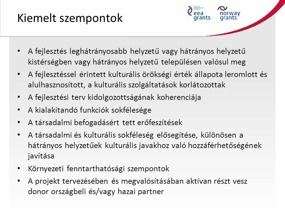 Pályázók köre Magyarországi székhellyel rendelkező szervezetek az alábbi felsorolás szerint: Központi költségvetési szervek Önkormányzatok Non-profit szervezetek Alapítványok Egyházak és egyházi intézmények Non-profit gazdasági társaságok Jogi személyiséggel rendelkező önkormányzati társulások esetén maga a társulás Többcélú kistérségi társulás Önkormányzatok jogi személyiség nélküli társulása