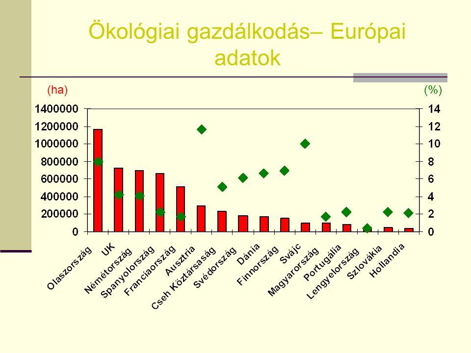 Európa OrszágTerület (ha) % Terület Olaszország1 168 212 8,00 UK 724 523 4,22 Németország 696 978 4,10 Spanyolország 665 055 2,28 Franciaország 509 00