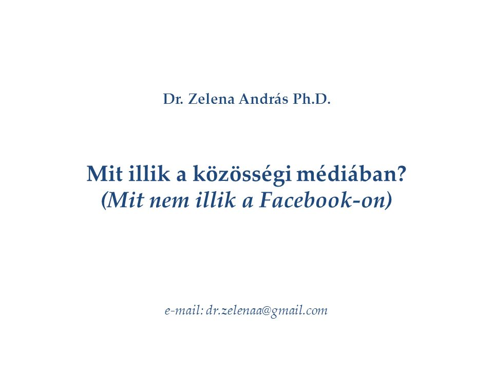 Dr.Zelena András Ph.D.