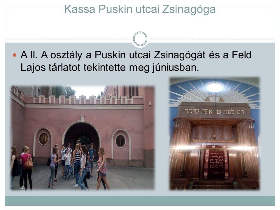 Kassa Puskin utcai Zsinagóga A II.
