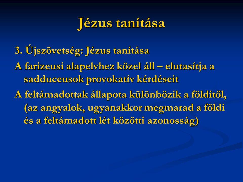 Jézus tanítása 3.