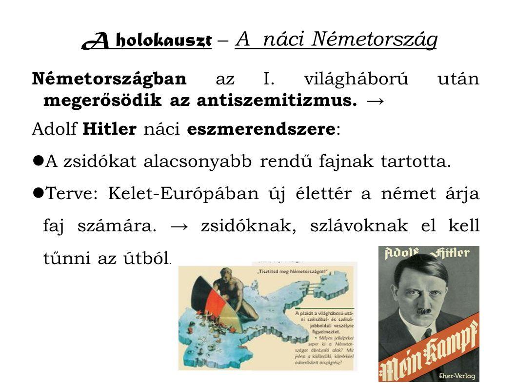 A holokauszt – A náci Németország Németországban az I.