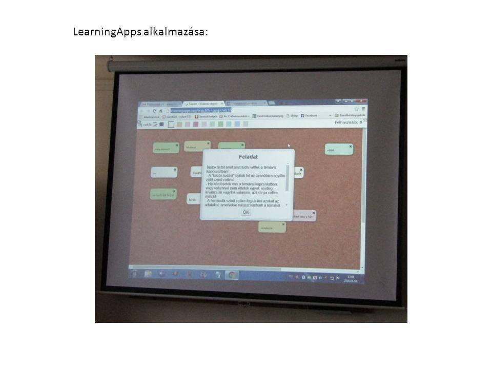 LearningApps alkalmazása: