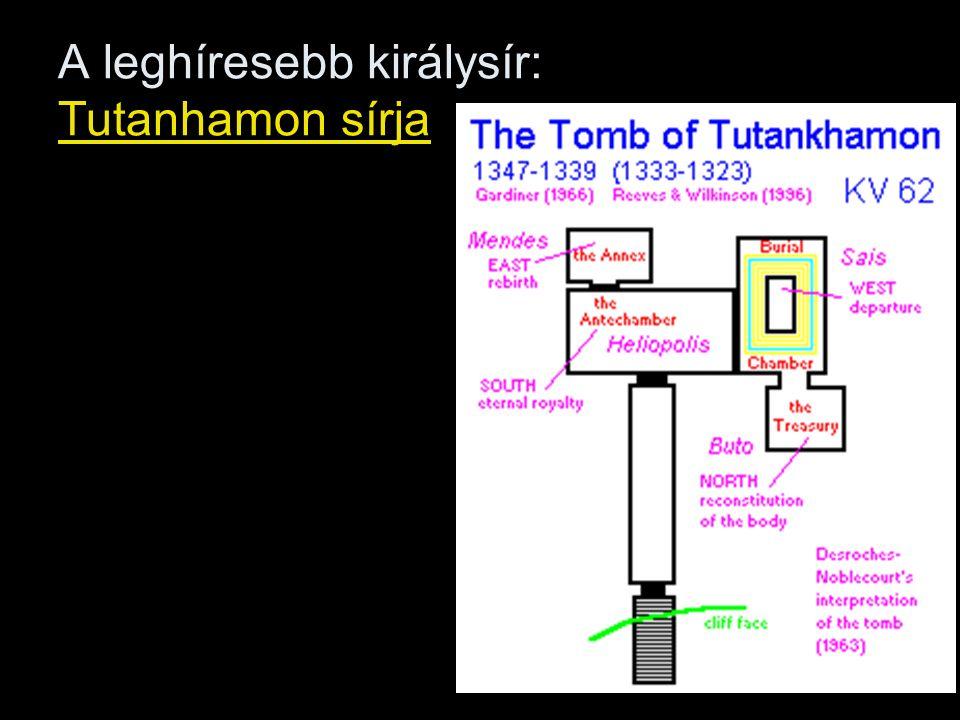 A leghíresebb királysír: Tutanhamon sírja